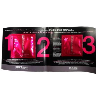 Пробники шампуня и флюида для волос  глянцевый блеск Beauty gloss2*10 ml