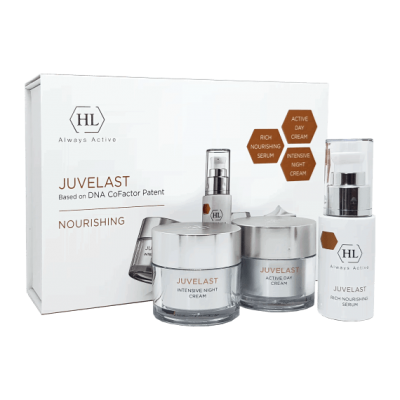 Набор для лица Juvelast KIT (дневной крем для лица 50ml+ночной крем для лица 50ml+ сыворотка для лица 30ml)