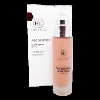 Увлажняющий крем для лица с декоративным эффектом Age Defense Glow Sense SPF15